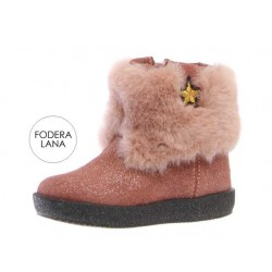 Falcotto Connie ve.shiny/fur rosa antico
