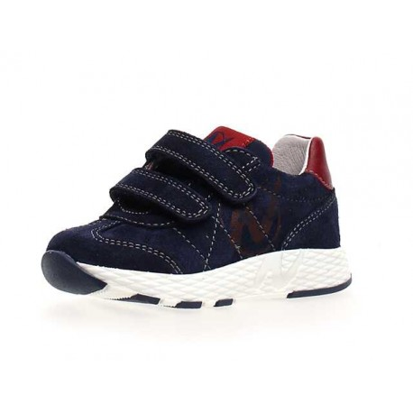 Naturino Jesko VL velour/nylon/sprint navy-bordeaux