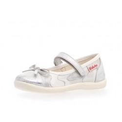 balerinka Naturino 8063 flash argento-bianco