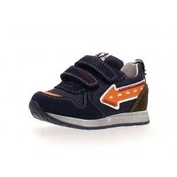sneakersy Naturino Crunch VL velour /cordura navy -multi