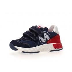 sneakersy Naturino Jesko VL  suede/nylon navy-red
