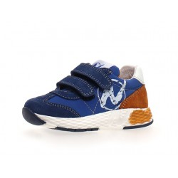 sneakersy Naturino Jesko VL  suede/nylon azure-zucca