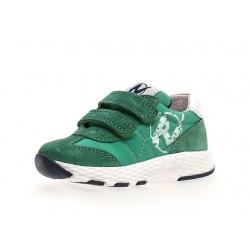 sneakersy Naturino Jesko VL  suede/nylon green-white