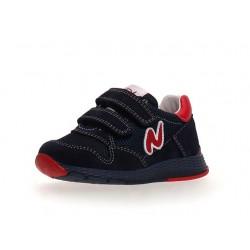 sneakersy Naturino Sammy suede/net navy