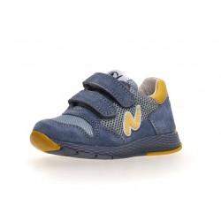 sneakersy Naturino Sammy suede/net light blue