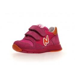 sneakersy Naturino Sammy suede/net fuchsia