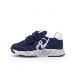 sneakersy Naturino Jesko VL  suede/nylon navy-white