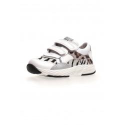 sneakersy Naturino Mitzi VL. calf/sue white-multi