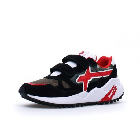 sneakersy Wolf  W6YZ black-militare-red